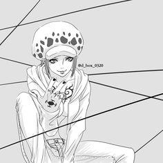 Trafalgar D Water Law Lawko Fem One Piece One Peace, Ayato, Trafalgar Law, Snow Leopard, Anime Ships, Anime Characters, Pirates, Character Art, Anime Art
