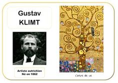 Gustav Klimt - Portrait d'artiste Plus Gustav Klimt, Art Klimt, Art Lessons For Kids, Art For Kids, Art Children, Jackson Pollock, Art Montessori, Ecole Art, Preschool Art
