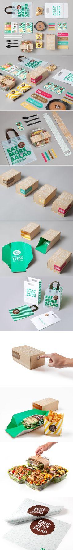 Combinatie veel kleur en hout tint erg mooi  http://www.brandingserved.com/gallery/Sandwich-or-Salad/7446721