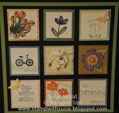 Stampin' Up!- A SPRING framed sampler!!
