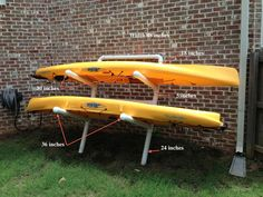 Kayak Storage Ideas – For those who have another storage methods which have worked for you, I'd really like to hear about them. The wonderful thing about this sort of storage is it can hold many kayaks. Overhead storage is… Continue Reading → Kayak Camping, Canoe And Kayak, Kayak Fishing, Fishing Stuff, Fishing Tips, Saltwater Fishing, Campsite, Kayaks, Kayak Storage Rack