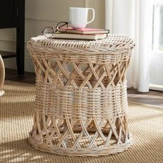 Safavieh Desta Wicker Round Table - SEA7028A