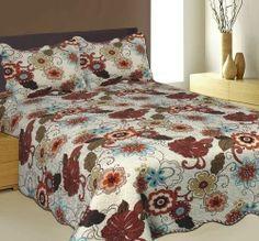 Queen Quilt Set Cover Duvet Blanket Comforter Bedding Coverlet Bedspread