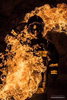 Firefighter - Canvas on Thắng Firefighter Humor, Firefighter Pictures, Wildland Firefighter, Volunteer Firefighter, Fire Dept, Fire Department, Firefighter Photography, Fire Tattoo, Fathers Day Crafts