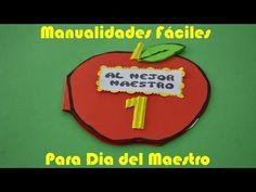 Manualidades Fáciles Para Dia del Maestro - Como Hacer Un Regalo Rápido y Barato - YouTube