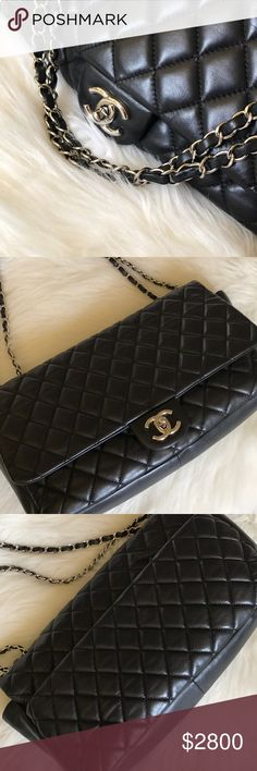 Chanel Quilted Flap Bag Parachute style with built in protector. Gently loved with hairline lines and minor creasing from wear. No card but will include dust bag. CHANEL Bags
