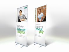 Retractable Aluminum Rollup Banner Stand with Custom Print Banner picture from Changzhou Sanren Advertising Material Co. view photo of Banner Stand, Roll up Stand, Roll up Banner Stand. Pull Up Banner Design, Pop Up Banner, Banner Design Inspiration, Design Ideas, Sole Proprietorship, Retractable Banner, Banner Stands, Poster Layout, Booth Design