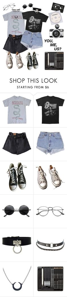 """""""Untitled #83"""" by alduque ❤ liked on Polyvore featuring Levi's, Converse, Retrò, Charlotte Russe, The Rogue + The Wolf, Lomography and KEEP ME"""