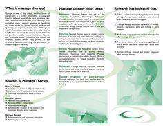 Free Downloadable Massage Therapy Brochures | Design by Pizaz Creative