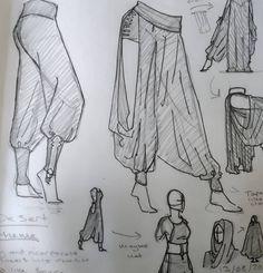 """Statische Schafe auf Instagram: """"Kleidung im Wüstenstil zeichnen. Hatte viel Spaß mit ... #drawings #drawingideas Drawing Reference Poses, Drawing Poses, Drawing Ideas, Drawing Tips, Sketch Poses, Art Drawings Sketches, Easy Drawings, Dress Sketches, Clothing Sketches"""
