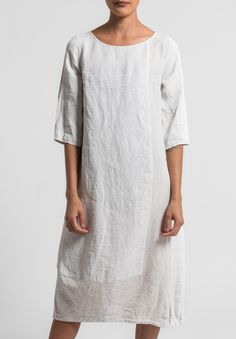 Oska Linen Tuyet Dress in Page Available at Oska Camberwell, Aus