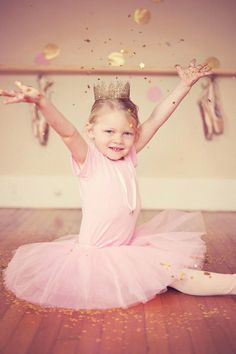 {Gorgeous!} Sparkly Pink & Gold Ballerina Party