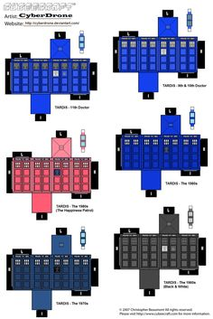 Mini TARDIS Cubeecraft Set by ~CyberDrone on deviantART; Dr. Who Party Craft