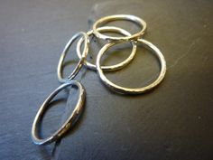 Sterling Silver Fine Hammered Stacking Ring £12