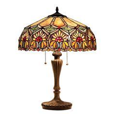 Chloe Lighting CH33453BF18-TL2 Sunny Floral 2 Light Table Lamp