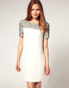 Reiss Lottie Embellished Shift Dress $336.16