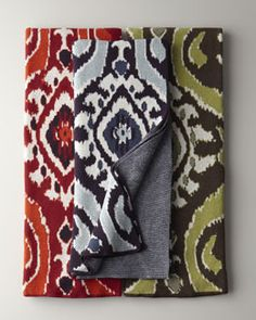 "H6AAA ""Eco"" Ikat Throw"