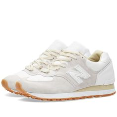 x New Balance 'Marble White' in White & Grey from leading mens fashion retailer END. - only Fast shipping on all latest New Balance products New Balance Outfit, New Balance Shoes, New Balance White, New Balance Sneakers, Cute Shoes, Me Too Shoes, Trendy Shoes, New Fashion, Fashion Shoes