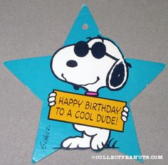 Snoopy Joe Cool 'Happy Birthday to a Cool Dude'