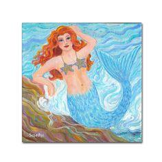 "Susan Rios Mermaid Canvas Art 14""14"" - Trademark Fine Art,"