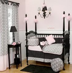 DAMASK BABY CHIC BEDROOM