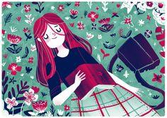 Placeres del verano: lectura y descanso (ilustración de Giovana Mediros)