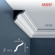 Corniche Moulure Cimaise Décoration de stuc Orac Decor CX123 AXXENT  Profil décoratif du mur | 2 m  25,20 €