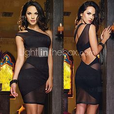 vrouwen sexy backless mesh jurk | LightInTheBox