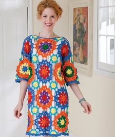 Bright & Beautiful Top--free pattern; like the idea, not sure I'm a fan of this colorway