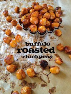 pretty plate: Buffalo Roasted Chickpeas