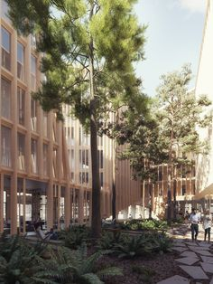 Image 10 of 16 from gallery of Orange Architects Wins Competition to Build Mixed-Use Development on Amsterdam Harbor. Courtesy of Orange Architects Social Housing Architecture, Architecture Collage, Architecture Visualization, Facade Architecture, Landscape Architecture, Courtyard Landscaping, Scandinavian Architecture, Win Competitions, Mixed Use Development