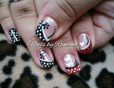 Gel Nail Polish with Nail Art.