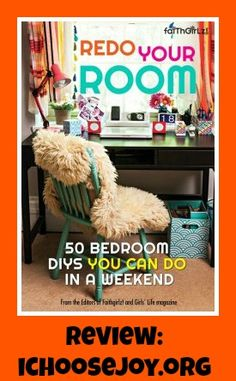 """Looking for some quick tweaks for a tween/teen girl's bedroom? Take a look at """"Redo Your Room- 50 Bedroom DIYS You Can Do in a Weekend"""""""
