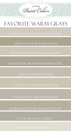 Top 10 Favorite Warm Gray Paint Colors | Favorite Paint Colors | Bloglovin'