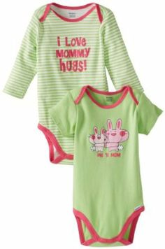 Gerber Baby-Girls Newborn 2 Pack Attitude Onesies Bodysuit 6ea38fc54