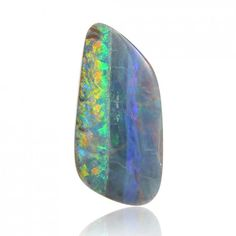 4.47ct Solid Boulder Australian Opal Queensland, Natural Untreated Loose Opal Piece by Anderson-Beattie.com