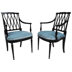 Pair of Hollywood Regency Armchairs | From a unique collection of antique and modern armchairs at https://www.1stdibs.com/furniture/seating/armchairs/