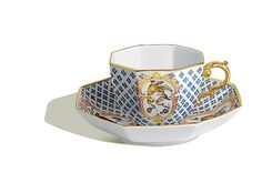 Cup and saucer, Fruits and flowers, early style, flower mosaic, Limited Masterpieces, V 0,15 l
