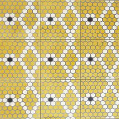 Madeline | Sabine Hill Brasserie Collection hexagon mosaic tile floor pattern