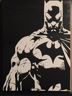 "18x24"" Batman airbrushed painting"