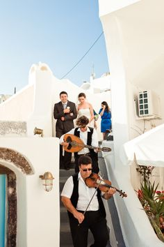 Greek Wedding Parade - escorting the bride from her home to the church with music following her everywhere.