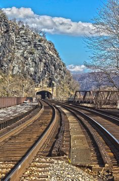 Harpers Ferry Tunnel is a photograph by Daniel Houghton. Train Tunnel at Historic Harpers Ferry, West Virginia. Source fineartamerica.com #modeltrainbridges