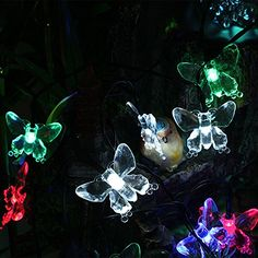 GRDE™ 30 LEDs Solar Powered Multi-color Butterfly Fairy Strings Lights for Indoor Outdoor Christmas Xmas Parties Wedding Festival Holiday Room Garden Yard Porch GRDE™ http://www.amazon.com/dp/B00MICL2IW/ref=cm_sw_r_pi_dp_RTZkub198NZFE