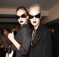 2013/2014 fall London lip trend. black lipstick.
