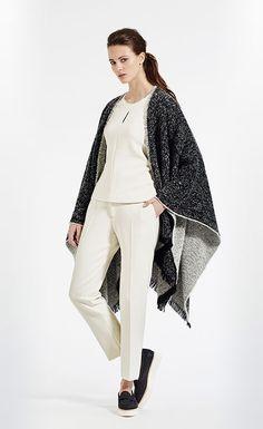 Reversible poncho #XandresAW16 #FallCollection #NewArrivals #Poncho #Wool #Alpaca #FallCollection #EarthTones #Merino