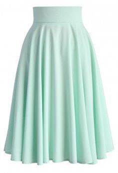 Creamy Pleated Midi Skirt in Mint - Bottoms - Retro, Indie and Unique Fashion