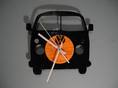 volkswagen Campervan Vinyl Record Clock Vintage retro Design in Home, Furniture & DIY, Clocks, Wall Clocks | eBay