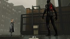 Spectacular Spider Man, Amazing Spider, Miles Morales, Black Silver, Illusions, Spiderman, Leather Pants, Darth Vader, Marvel
