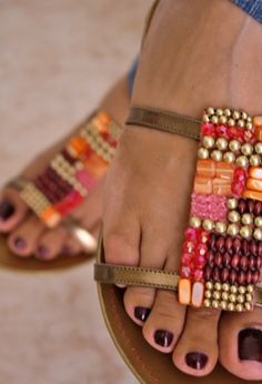 embellished shoes. jewelry for your feet!