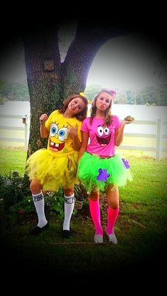 Spongebob and Patrick Costumes!Make your own tutu! #diy